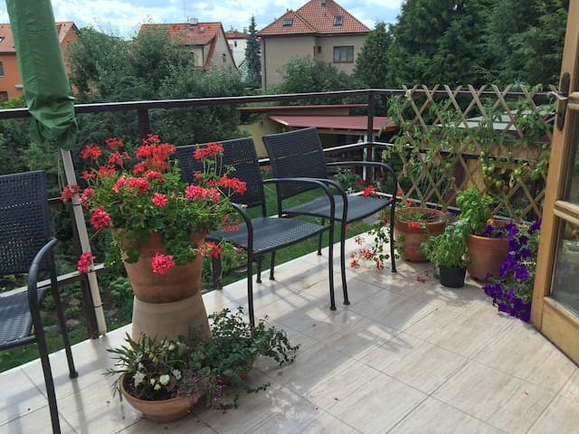 Bright, quiet apartment, great access to downtown - Prague - Apartment