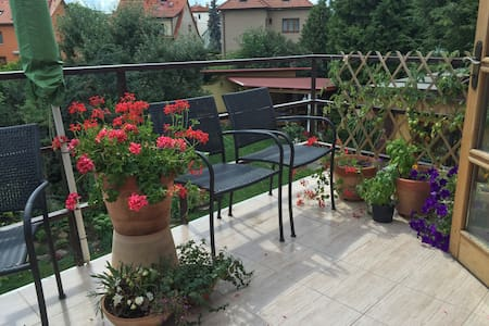 Bright, quiet apartment, great access to downtown - Praha