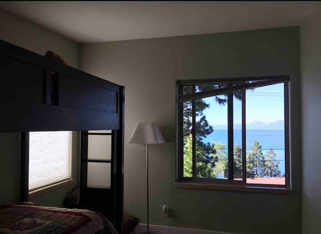 Bunk Room with a trundle bed, an XBox and amazing views.