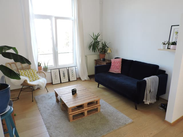 Bright Bedroom in Duplex, 15 min from City Center