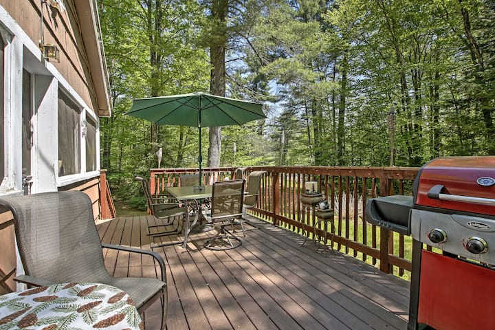 Pet-Friendly Cabin w/ Fire Pit, BBQ & Great Deck!