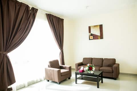Studio Apartment In Khalifa Close to Alraha beach.