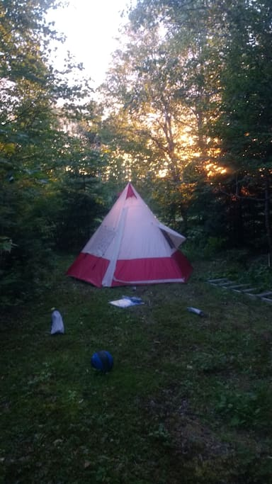 Here is the Tpee tent.. with a nice view of setting sun.