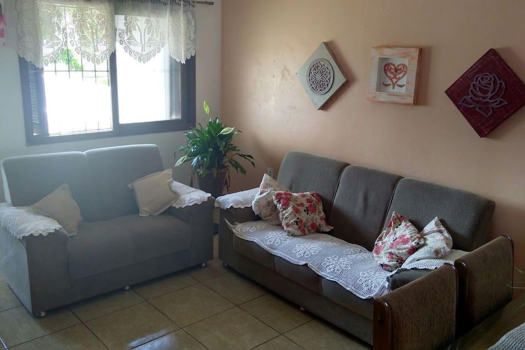 Grande sala de estar Opção de colchão de casal com ventilador