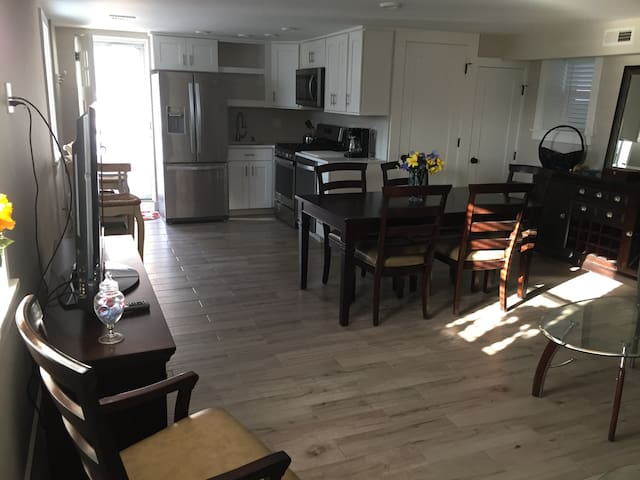 First Floor Apartment Half a Block from the Beach