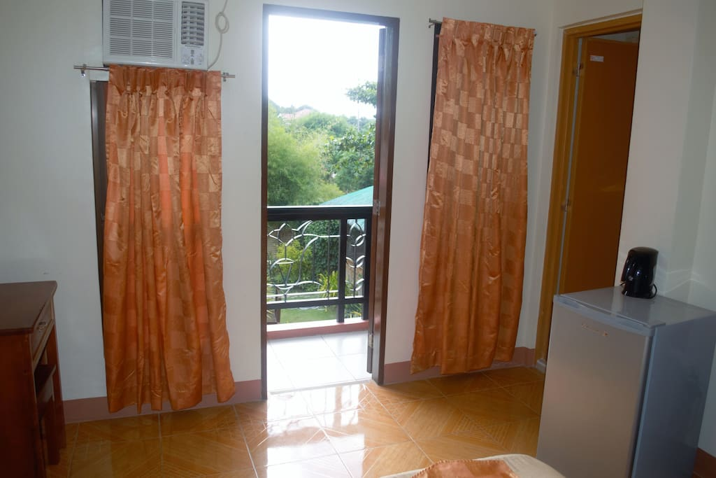 Double Bed Room w/Balcony and Private Toilet and Bath