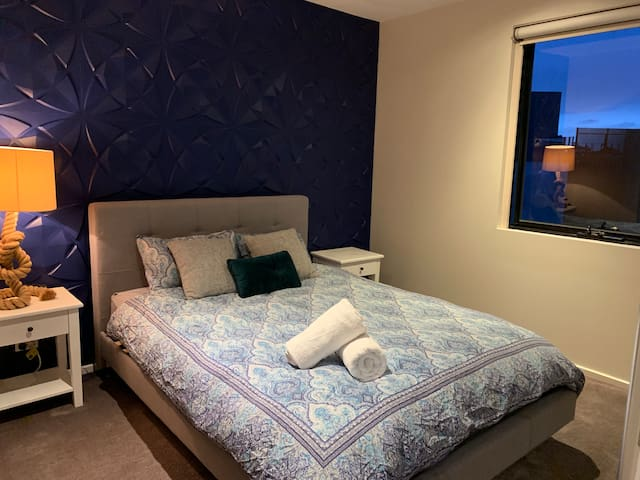 Master Bedroom with ensuite feature wall