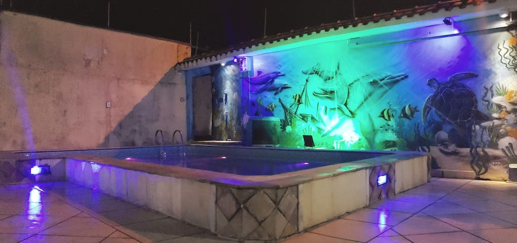 Casa Peruibe com piscina  wiffi