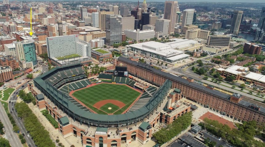 Walk to the Home of Baltimore Orioles just 5 Mins