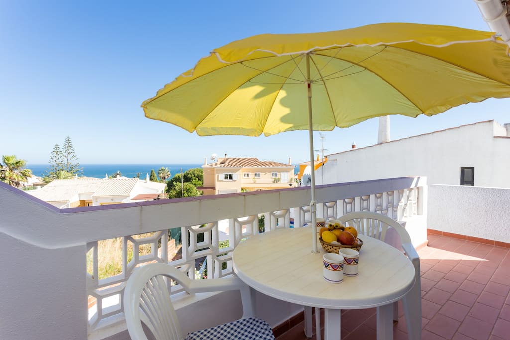 Lounge terrace with panoramic sea views - ideal for a meal any time of the day