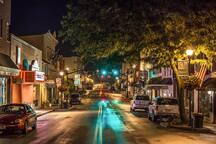 Downtown Lewisburg, 2 miles away
