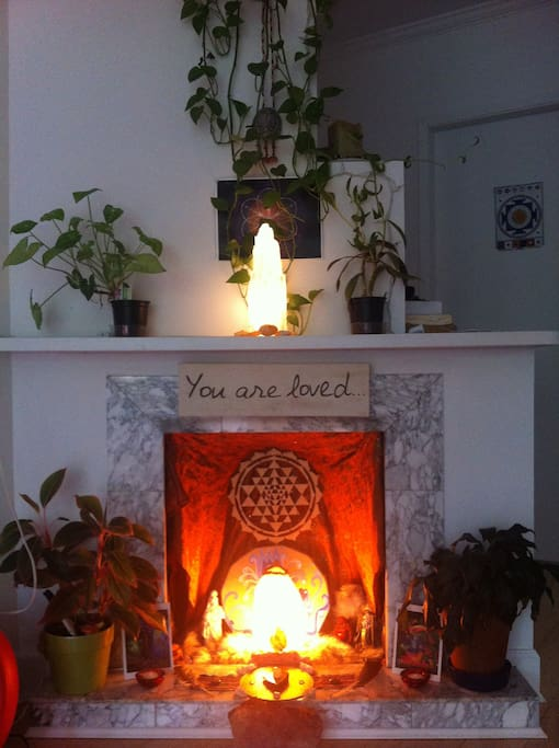 """""""You Are Loved"""" Central Altar in the living room."""