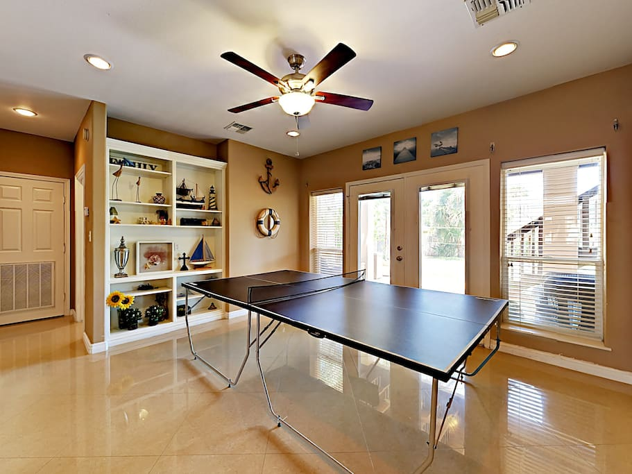 The game room with ping-pong table