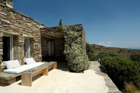 Architect's stone villa with amazing sea views - Kea Kithnos