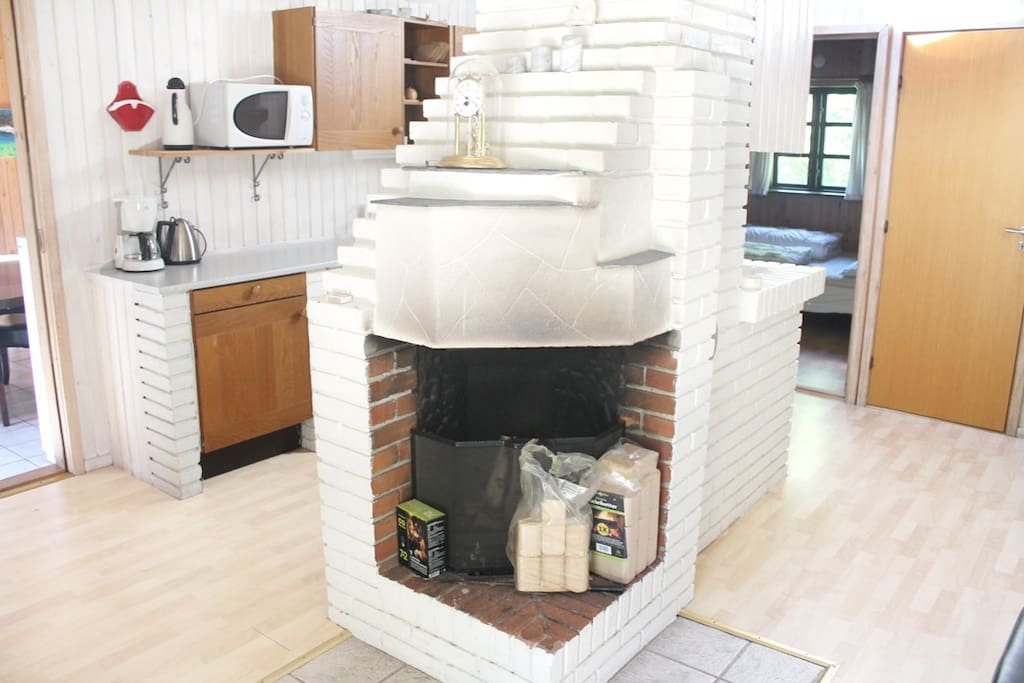 Fireplace for the cold nights in the late season