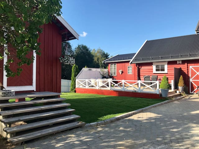Kozy apartment on  farm 13 min. from Oslo airport