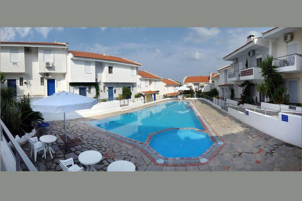 Panaromic view of the swimming pool