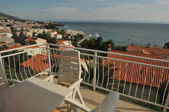 Studio Appartement mit Terrasse und Meerblick Baska Voda, Makarska (AS-300-c)
