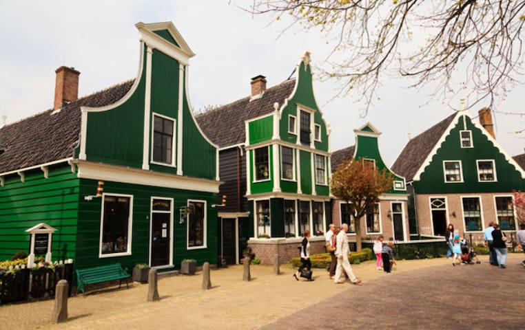 Traditional Dutch houses in Zaanse Schans.