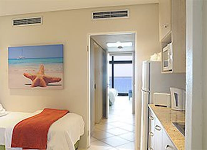 Second two bed bedroom with kitchenette ~ bathroom is between the two bedrooms