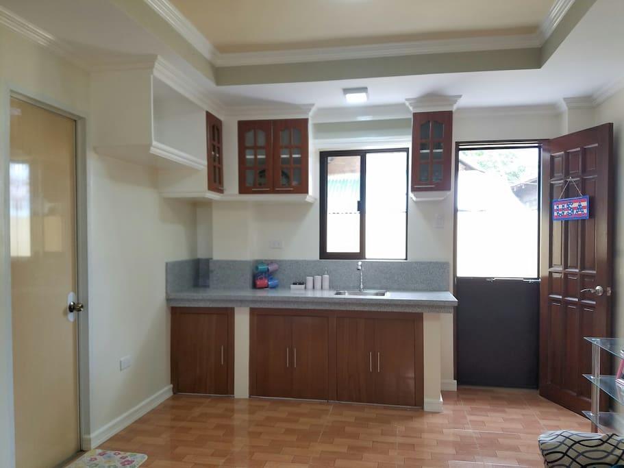 """Hotel Miami"" Dulag Leyte Hotel-like Studio Suite Kitchen"