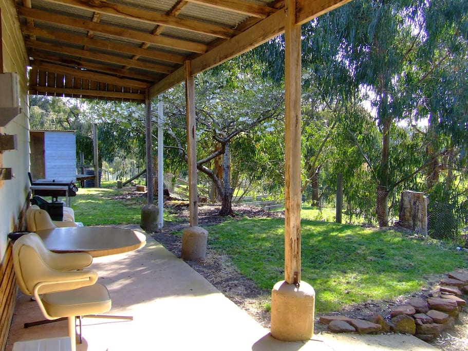 A sunny north facing verandah perfect for that afternoon wine and nibbles.