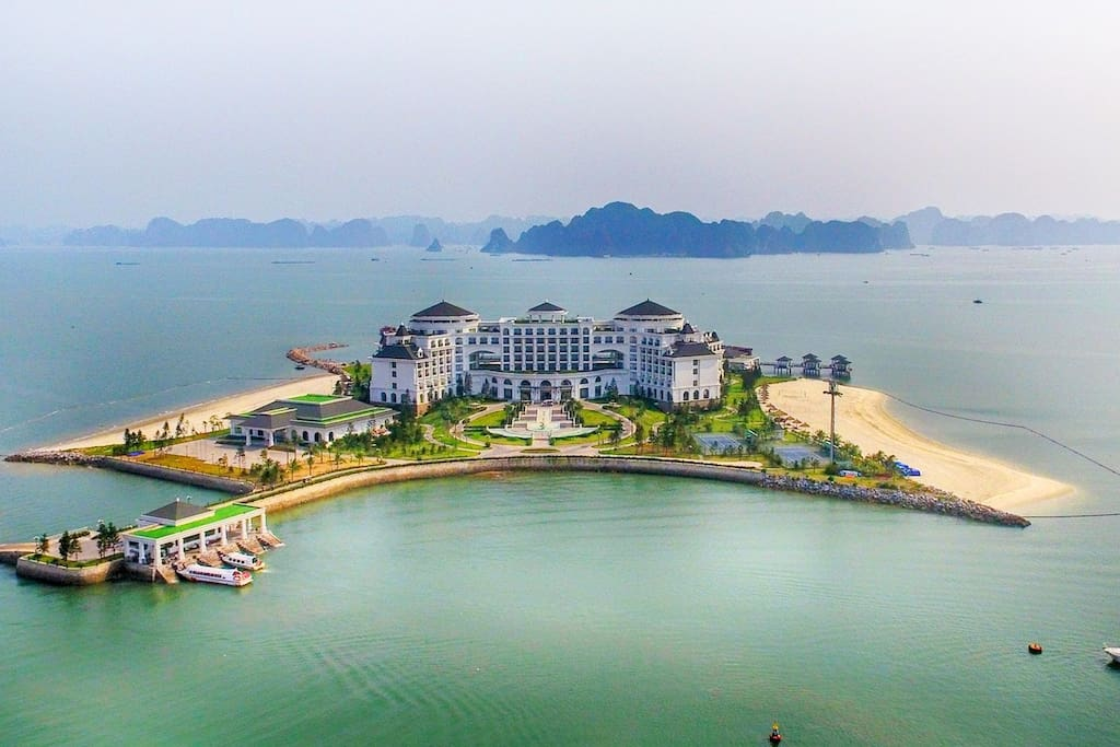 View Halong bay/ Vinpearl resort from Balcony