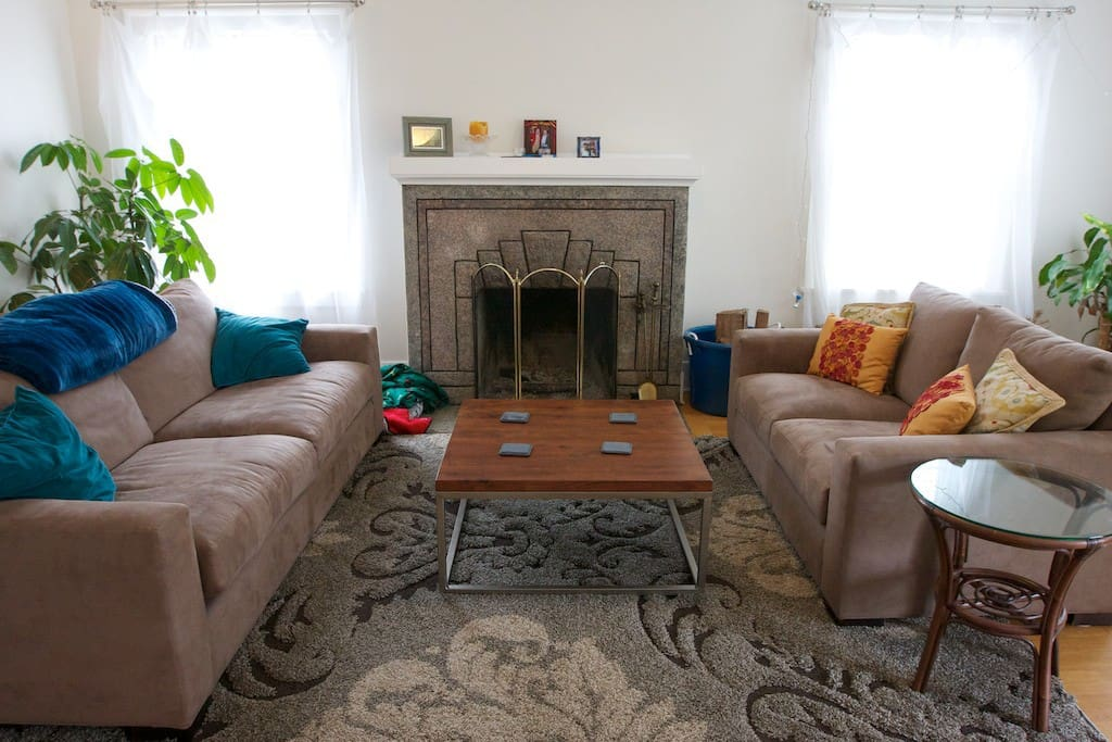 Relax and play board games on super-comfortable couches