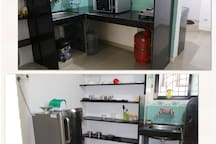 Self catering, semi furnished kitchenette