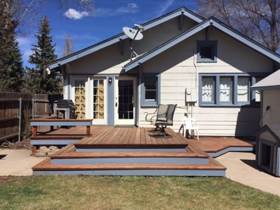 Outdoor Deck in Backyard