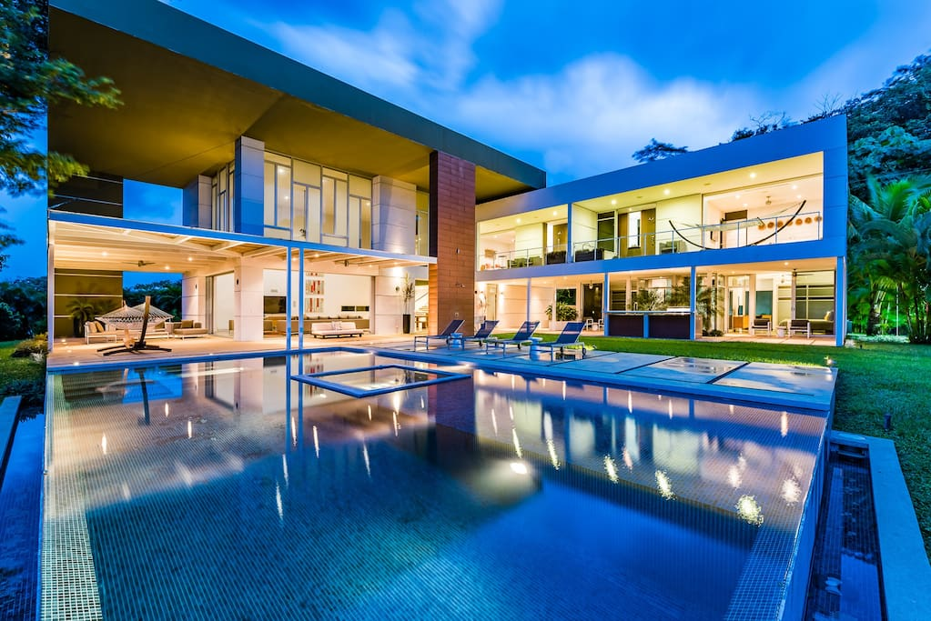 Beautiful home perfect for a night time swim
