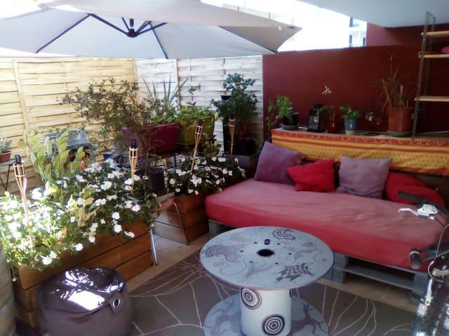 Appart T2 50m2 avec terrasse 30m2 - Montpellier - Apartment