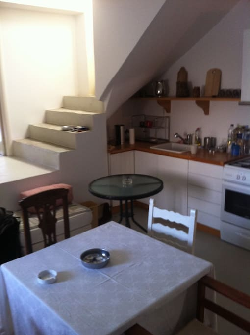 Dining room with cooking facilities