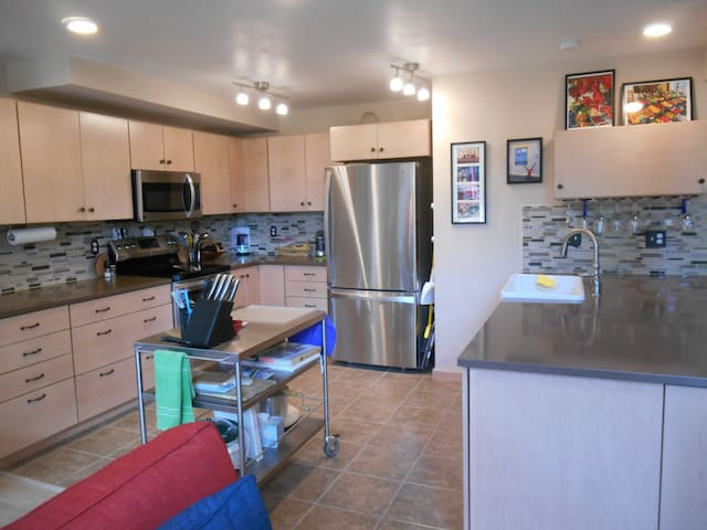 Kitchen large enough for help in the kitchen-without bumping into one another.