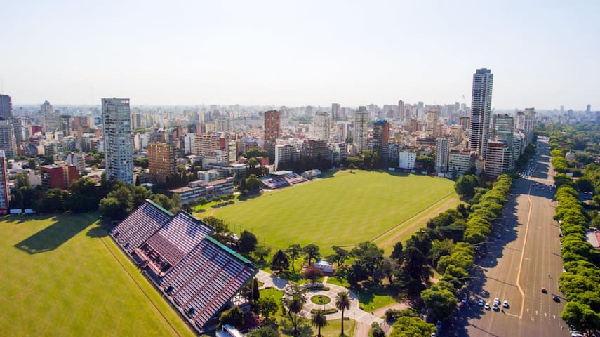 THE ARGENTINE POLO FIELD IN PALERMO