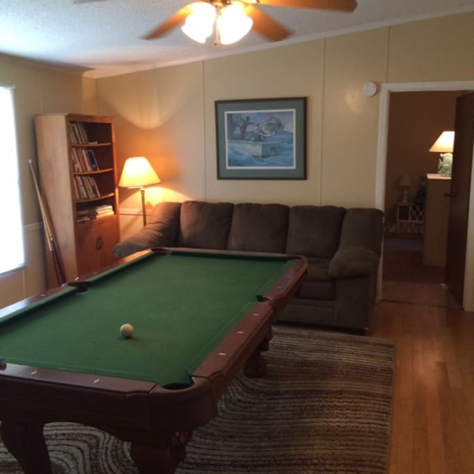 Play some pool or enjoy our reading area.
