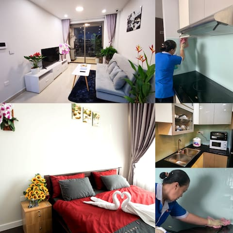 COVID19 FREE❤️Penthouse•Clean+Disinfect•5Min to ✈️