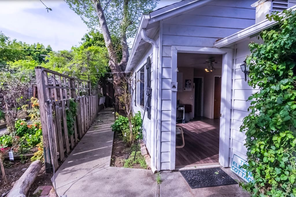 Placed behind our home, patio, and 3 garden beds. Walking distance to SAP Center!