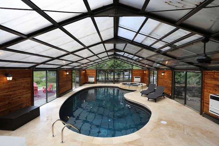 Yes your own Private heated indoor Swimming Pool!