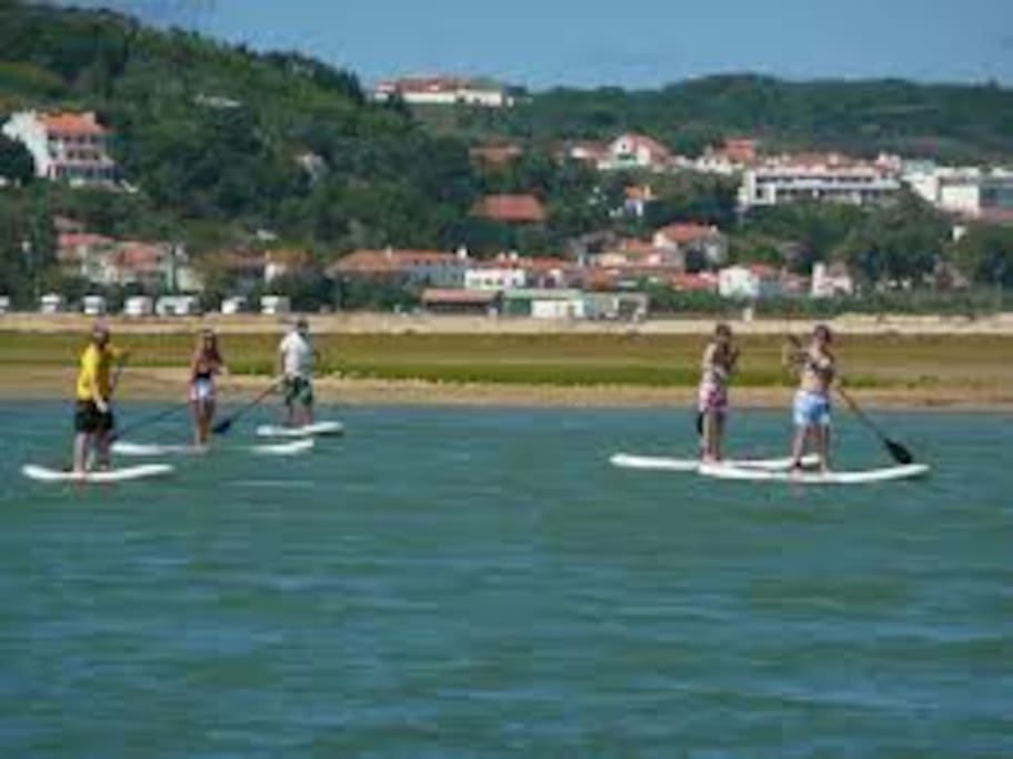 Sup paddle na Lagoa Óbidos