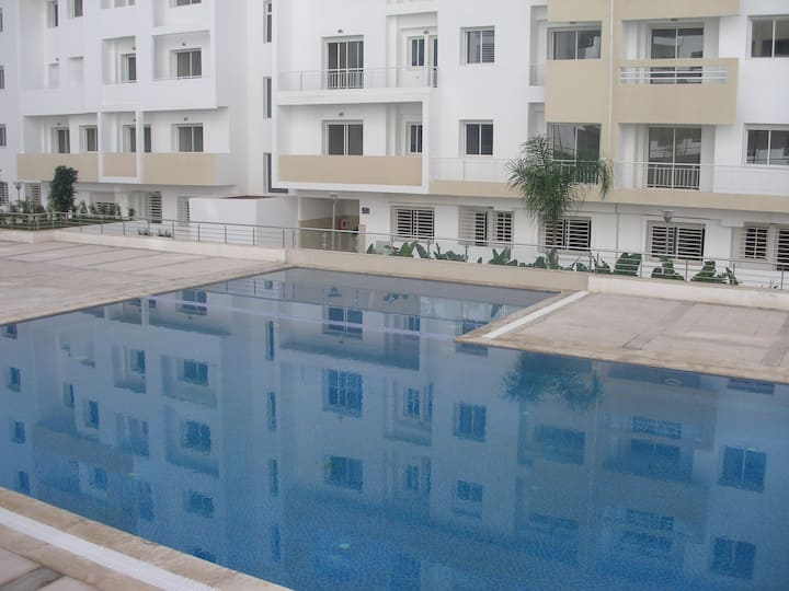 Appartement Cozy avec piscine à 10 min de la plage