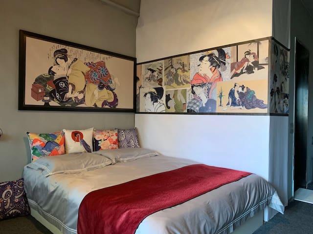 【不如归·大和】双福交大旁、皮草城日式特色大床房(可做饭)