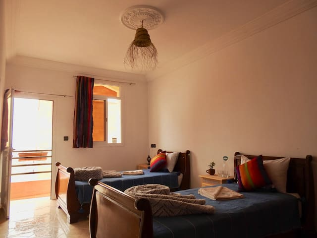 Deluxe Twin Room at Offshore Surf Morocco
