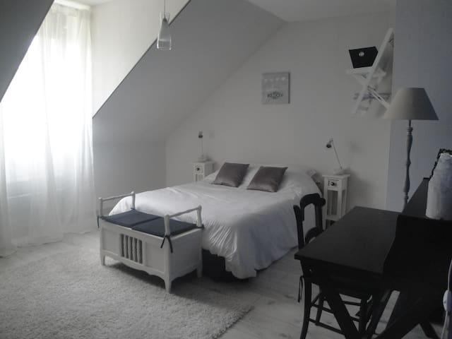 Chambre Laura avec salle de bain privée attenante - Brugny-Vaudancourt - Bed & Breakfast