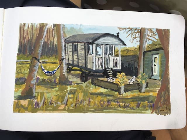 Swarland Shepherds hut.