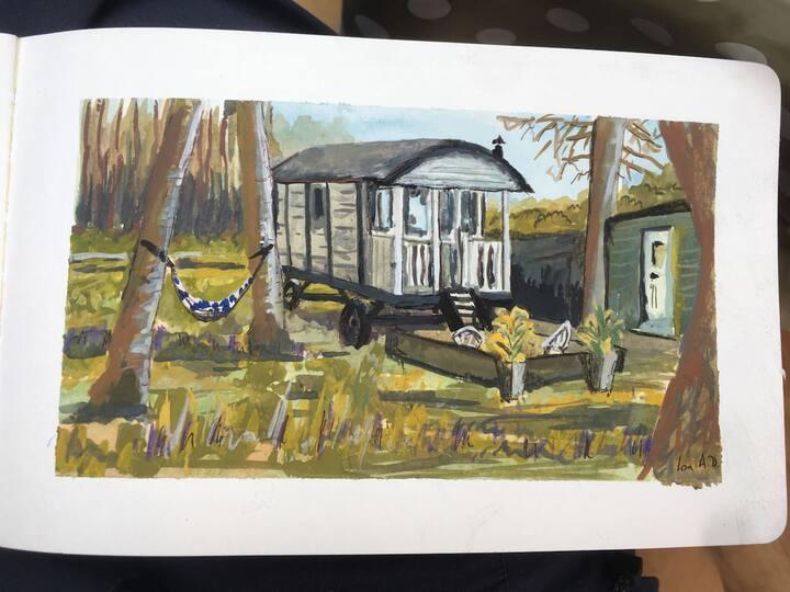Swarland Shepherds hut.
