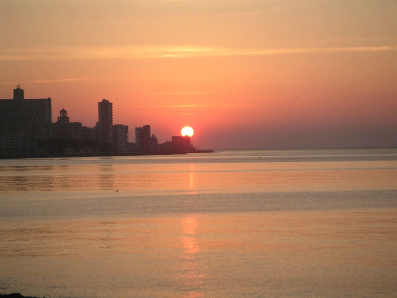 Sonnenuntergang am nahen Malecon