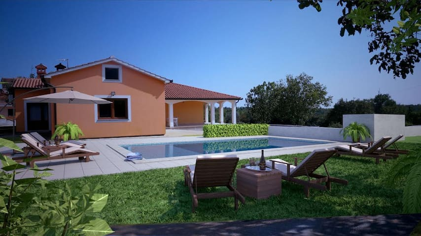 Beautiful modern Villa Anavi with private pool - Bičići