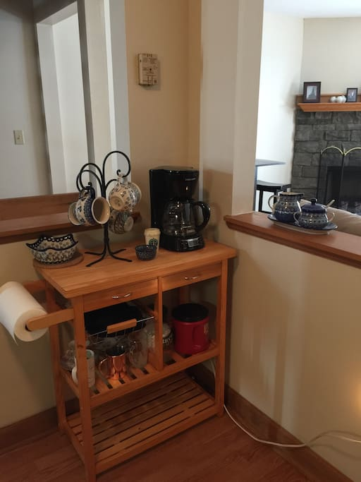The coffee corner, now has a Keurig :-)