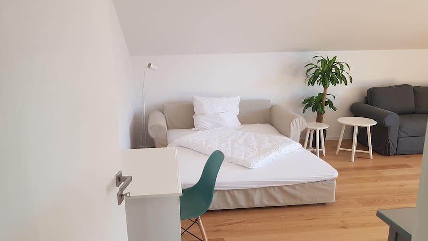 1.60 Schlafcouch zum Ausziehen im Wohnzimmer